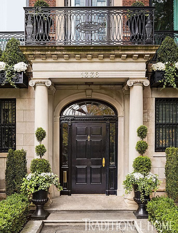 Pin By Tameem On Beautiful Entrance Of The Houses Beautiful Front Doors Front Door Planters Traditional Front Doors