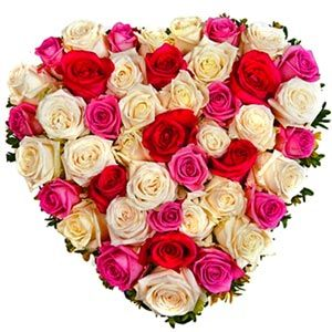 Add some glow & happiness her/his Valentine's day by sending this gift. 50 mix colorful roses in a very pretty heart shape arrangement. http://www.tajonline.com/valentines-day-gifts/product/v2864/adorable-roses-surprise/?Aff=pint2014/