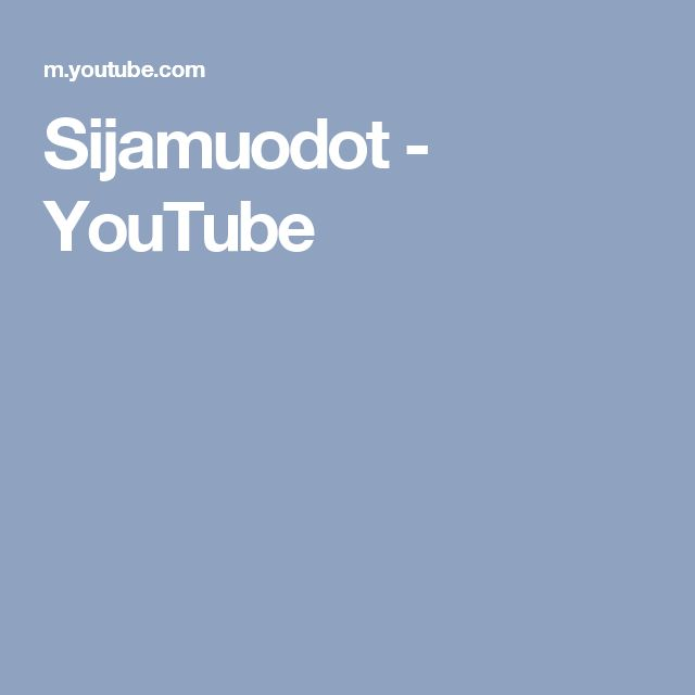 Sijamuodot - YouTube