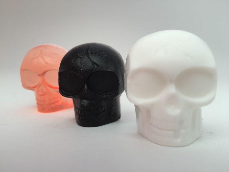 Halloween Favor: Halloween Soap Favor, 2 Mini Halloween Skull Soaps, Halloween Party Favor by MadHatterPartyBox on Etsy https://www.etsy.com/listing/248358445/halloween-favor-halloween-soap-favor-2