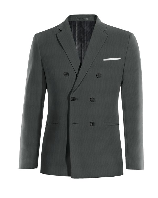 Grey double breasted wool Blazer http://www.tailor4less.com/en/men/blazers/4042-grey-double-breasted-wool-blazer