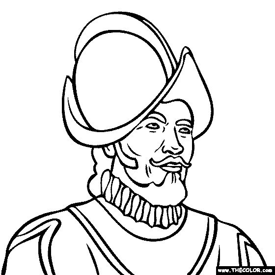 coloring pages of a conquistador - photo#24