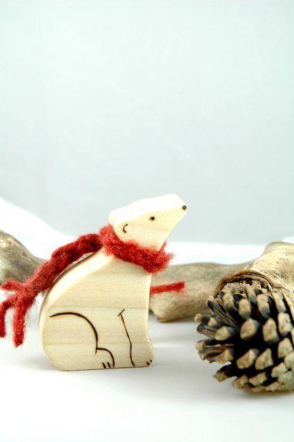 Polar Bear- Scroll Saw & Wood Burning