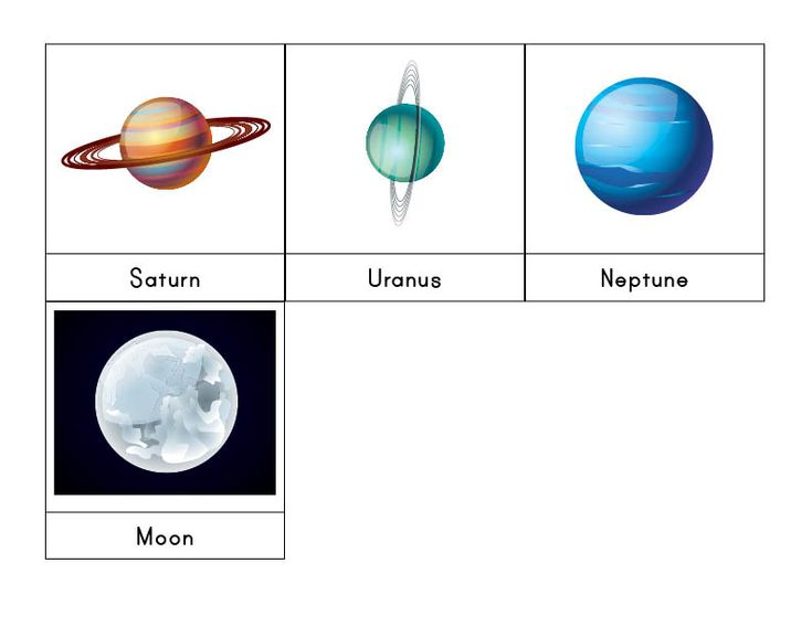 Solar System 3-Part Cards | Neptune pictures, Solar system ...