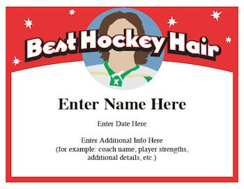 Hockey Certificates Templates Quotes Sloganore Gifts Youth
