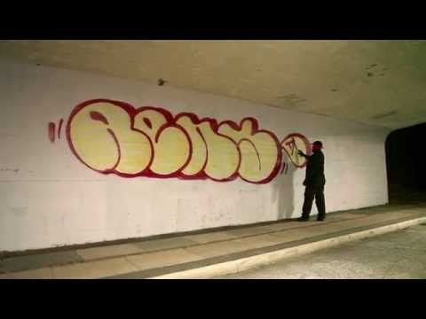 TRACES: Rens bombing in Copenhagen, Denmark, Graffiti bombing video