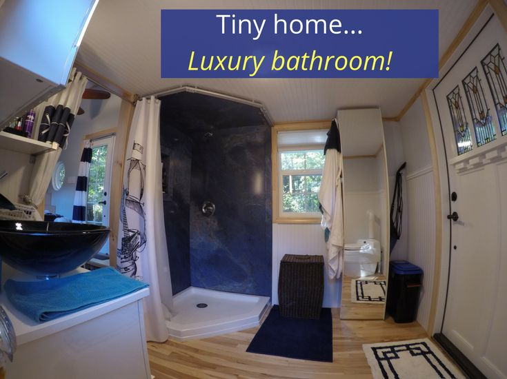 taking a behind the scenes adventure into an ingenious upscale tiny home shower wall