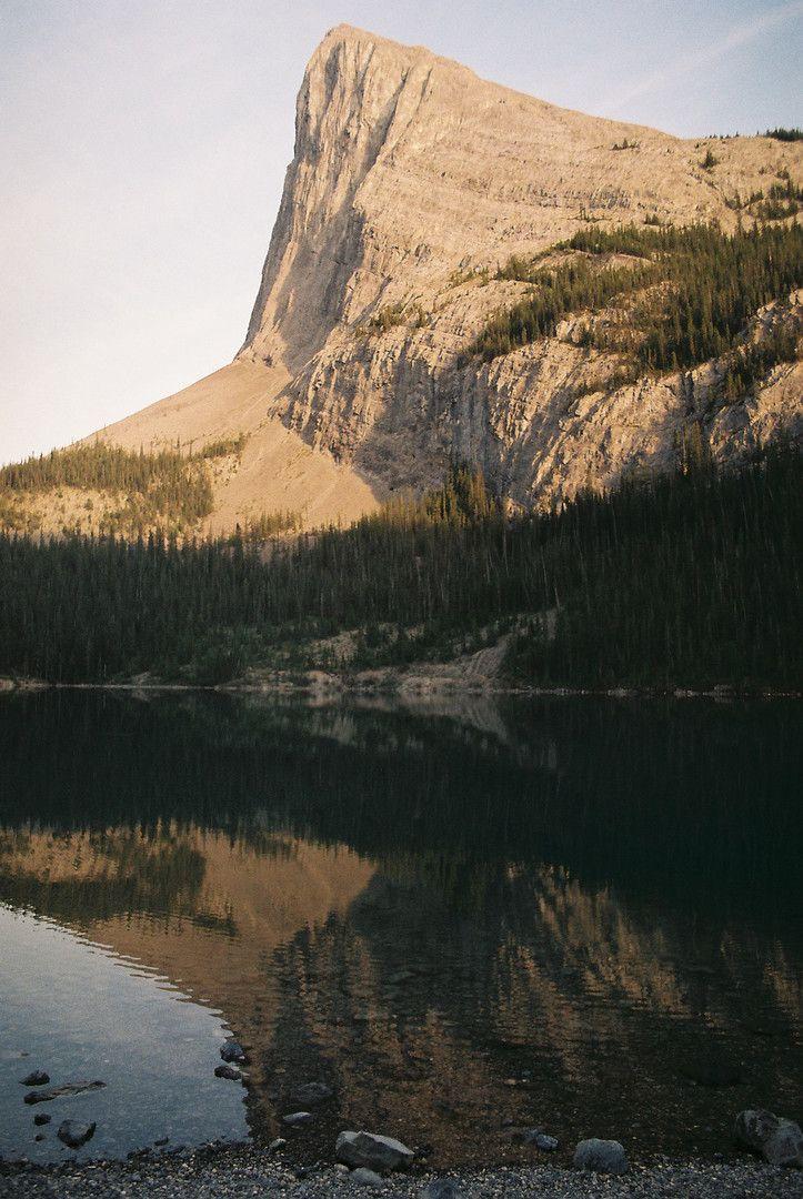 Georgous shot of Ha Link Peak near Canmore, Alberta #Canmore