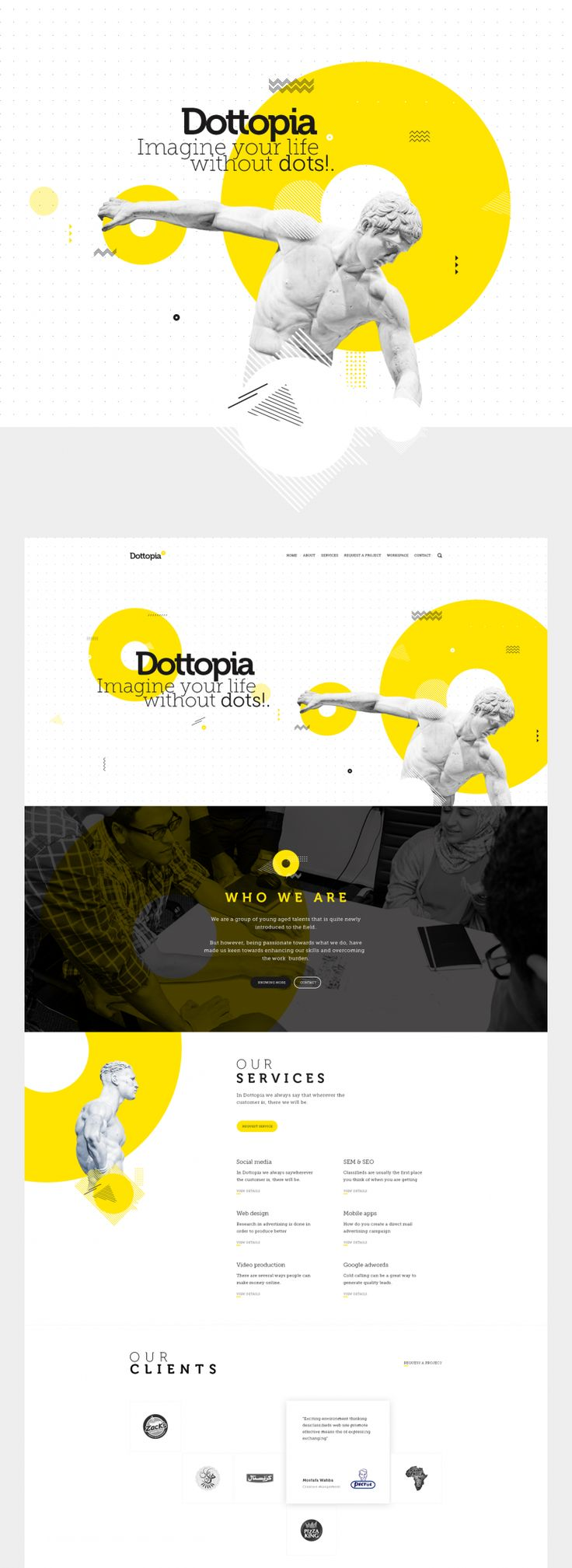 Dottopia web design UX/UI on