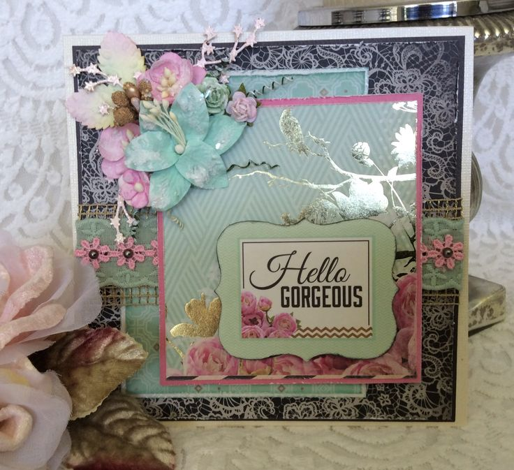 Card I've made using All That Glitters by Kaisercraft