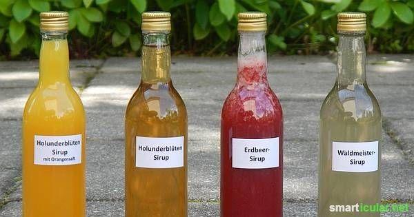 Leckeren Sirup aus Blüten und Beeren jetzt herstellen und das ganze Jahr über genießen!