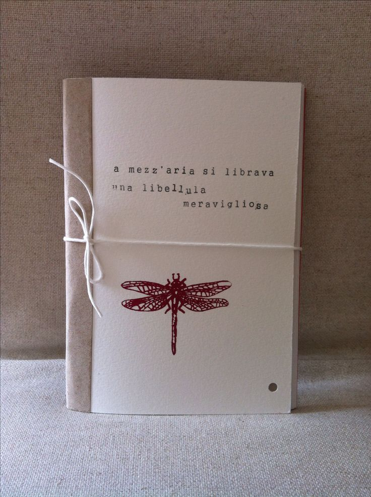 Notebook - Handmade - Red Dragonfly