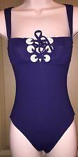 Melissa Odabash Italian Designer Blue One-Piece Nautical Swimsuit Size US 2 New