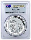 ⌂› 2017-P Australia 1 oz Silver #Kookaburra $1 PCGS #MS70 #FS (Flag Label) S... http://ebay.to/2hq41QH