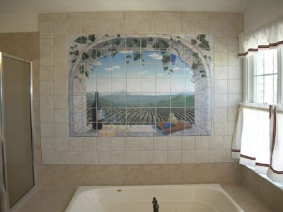 wallpaper borders for bathrooms palm trees