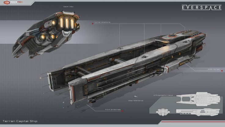 Concept of an Okkar capital ship. Done for Everspace.