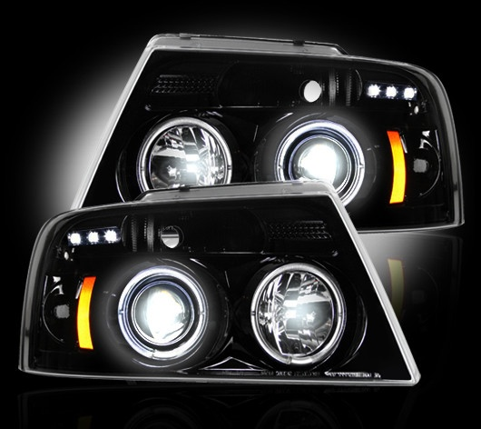 Recon Part 264198bk Smoked Projector Headlights Ford