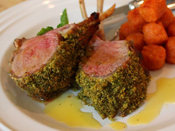 Mint Crusted Rack Of Lamb Recipe I Added Basil And It