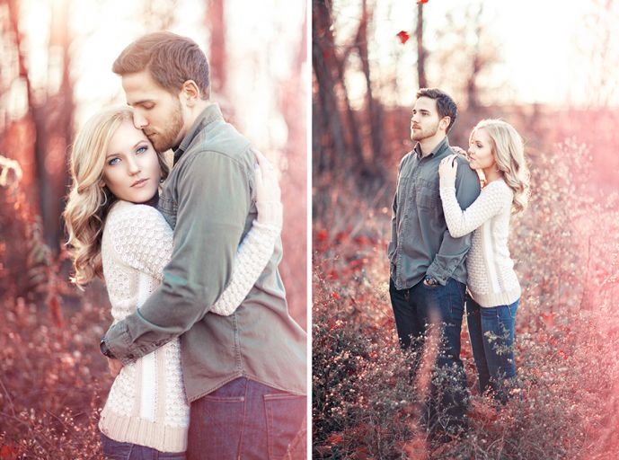 Fall engagement photography. Photo by Hunter Leone of Three Nails Photography.
