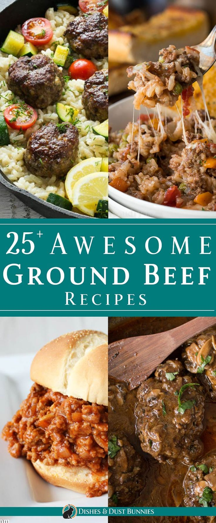 25+ Awesome Ground Beef Recipes via @mvdustbunnies
