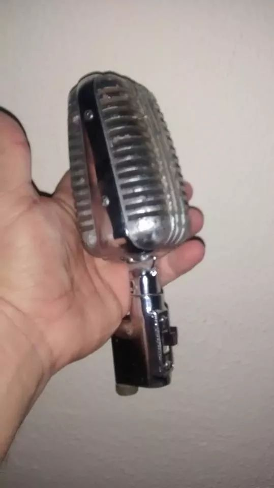 antigo microfone anos 50  classico original