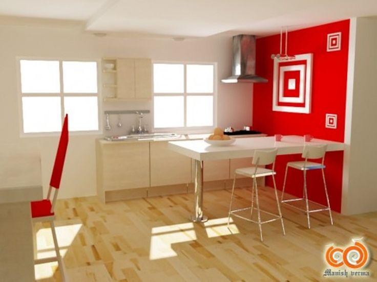 Mejores 17 imágenes de Red Kitchens en Pinterest | Cocinas modernas ...