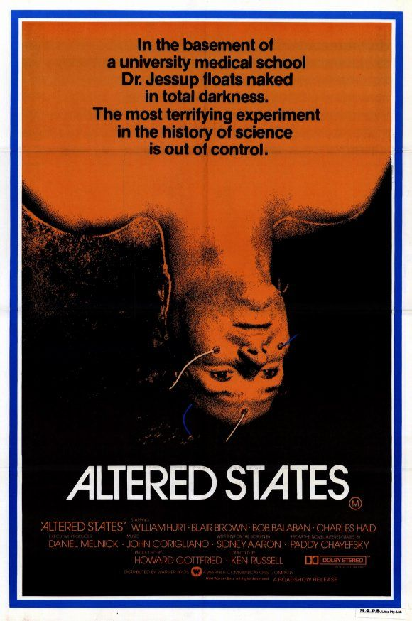 Ken Russel's Altered States.  What a tripp.  Mad 80's/90's video art sequences and amazing sound.