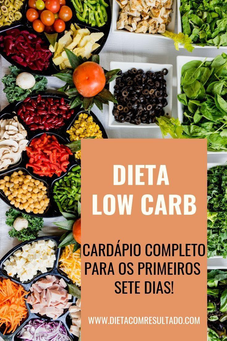 Menu completo dietetico a basso contenuto di carboidrati