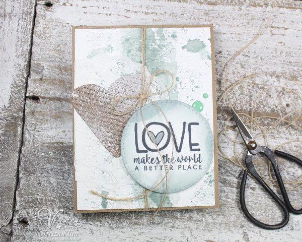Handmade card by Teresa Kline using the Love From Me digital set by Verve Stamps. #vervestamps