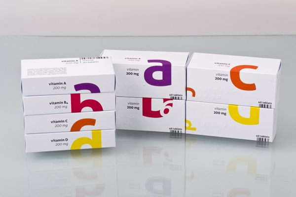 Vitamins – Young Package '13 by Richard Kelemen, via Behance