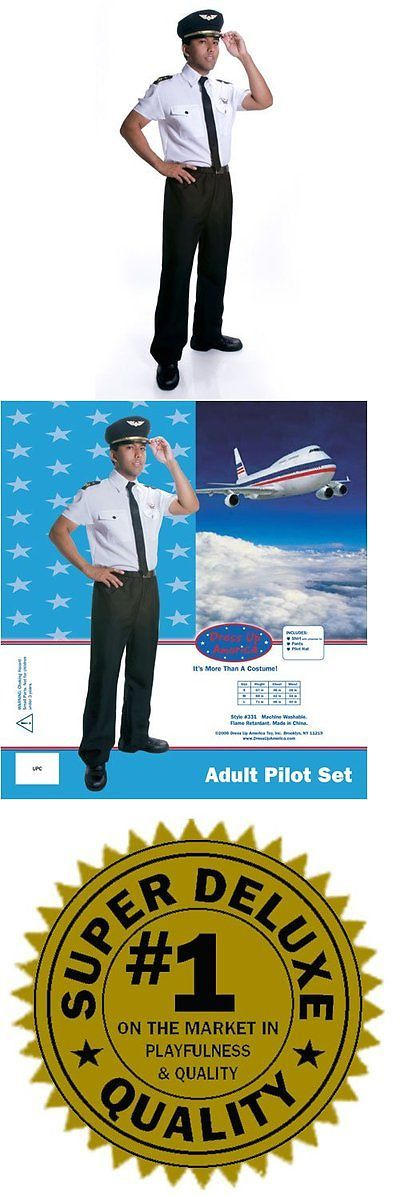 Other Costumes 19255: Dres-331S-Dress Up America Adults Deluxe Pilot Costume - Small -> BUY IT NOW ONLY: $40.62 on eBay!