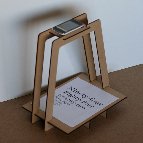 Flat pack iPhone copy stand