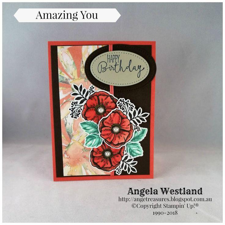 #amazingyou #handmadecards #stampinup #angelawestland #blends