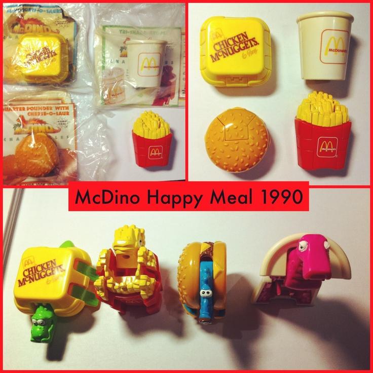 Mcdino 1990  mcdonalds toys 90s kids happy meal