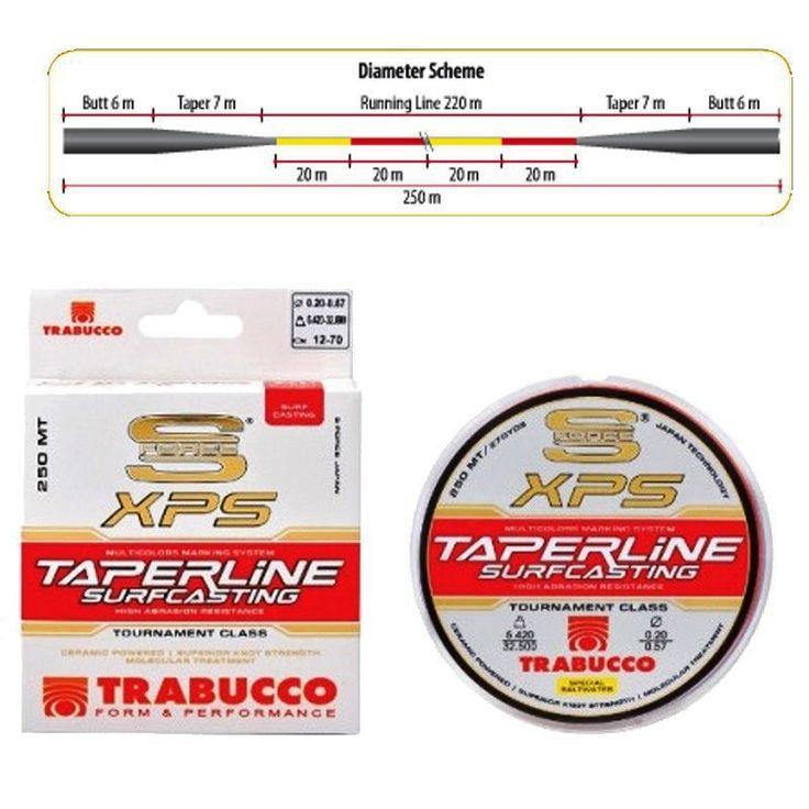 Filo Trabucco Taper Line 250 m 0.18 mm