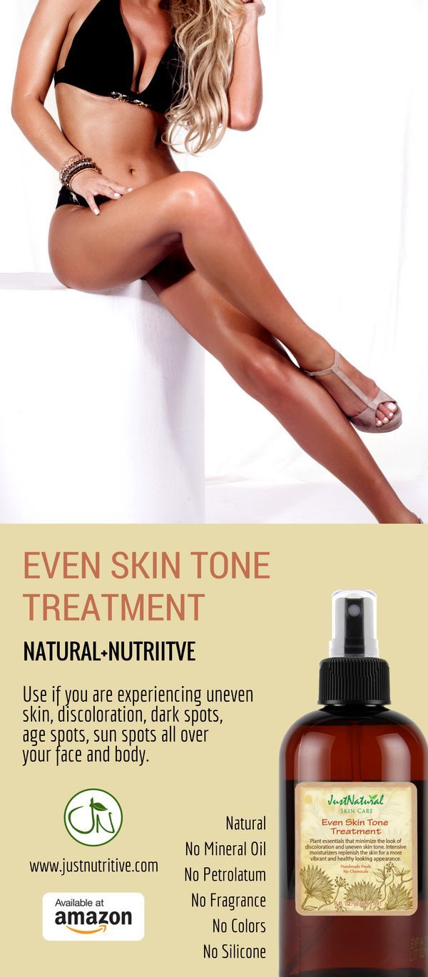 Even Skin Tone Treatment / Fades the look of dark spots, age spots, sun spots and discoloration all over body, especially on problem areas such as knees, elbows and feet. Traditional lightening products contain harsh chemicals and they come with their risks. This Even Skin Tone Treatment is a chemical free gentler alternative that will also prevent new even out discoloration with no side effects.