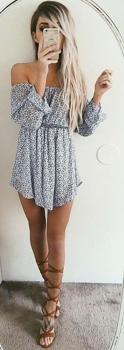 60 Trending And Girly Summer Outfits From Fashionista : Emily Rose Hannon - #summer #girly #outfits |  Floral Mini Dress