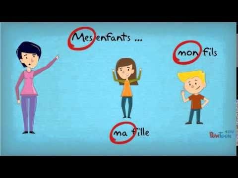 Les adjectifs possessifs - YouTube