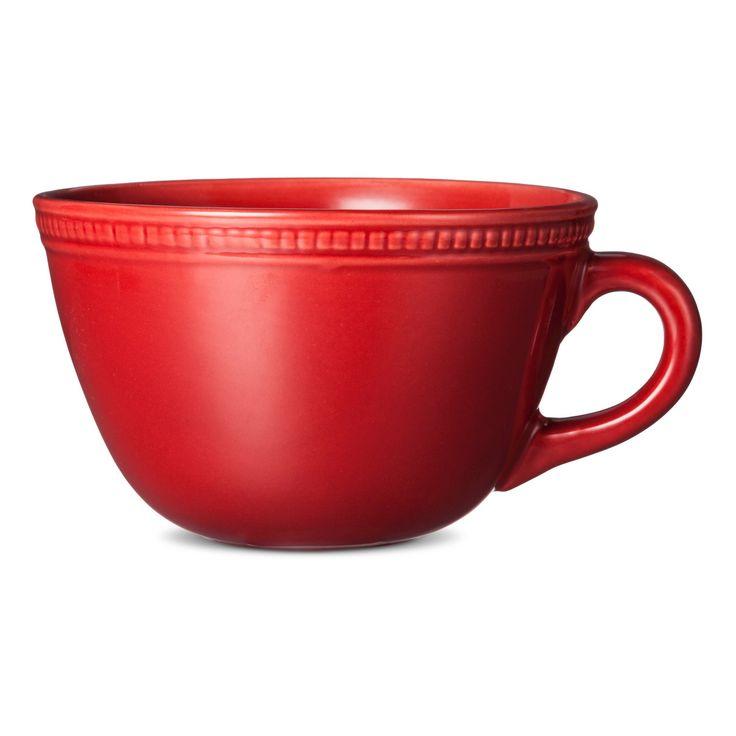 Camden Cappuccino Mug Red Set of 4 - Threshold, Core Red