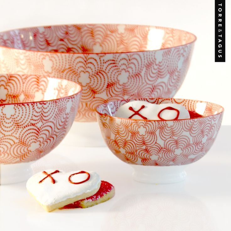 Share some love with your special someone this Valentines Day! Hugs & Kisses have never looked better than when served in our fun Red Kiri Bowls. #TorreAndTagus #ValentinesDay #xoxo #KiriBowl www.torretagus.com