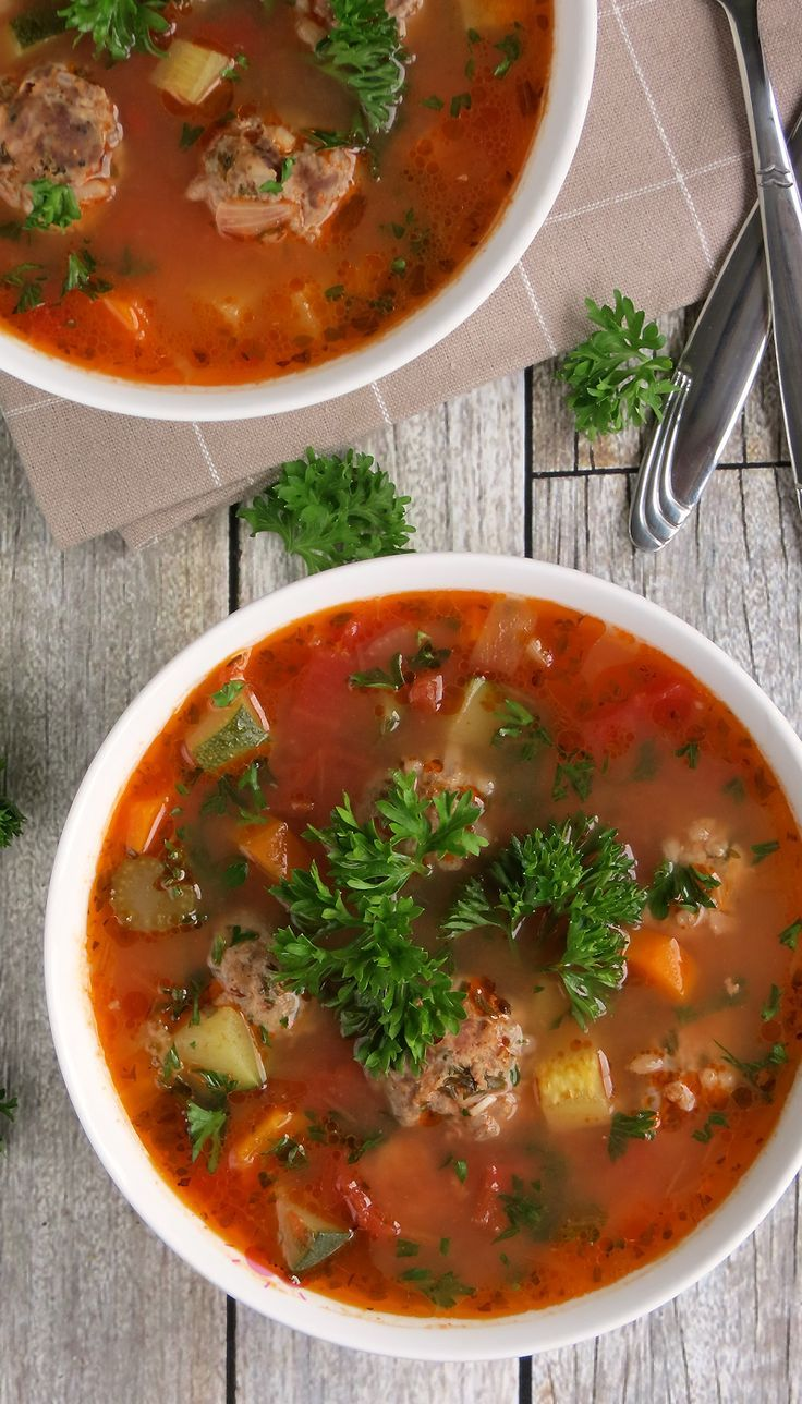Easy Mexican Meatball Soup (Albondigas Soup) | YummyAddiction.com