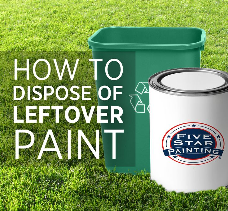 Learn the proper way to dispose of leftover paint our for How to dispose of empty paint cans