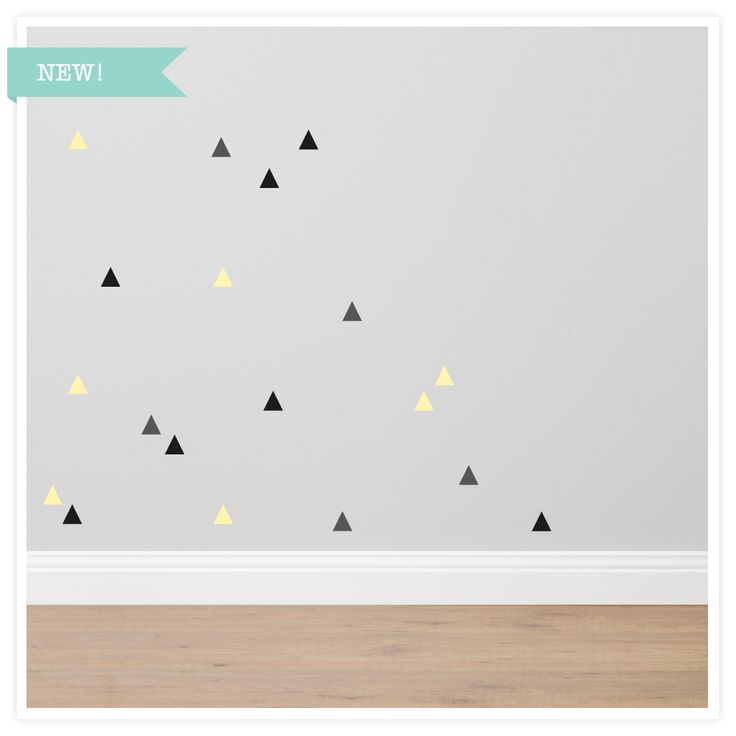 Shapes-Triangles Fabric Wall Sticker Set