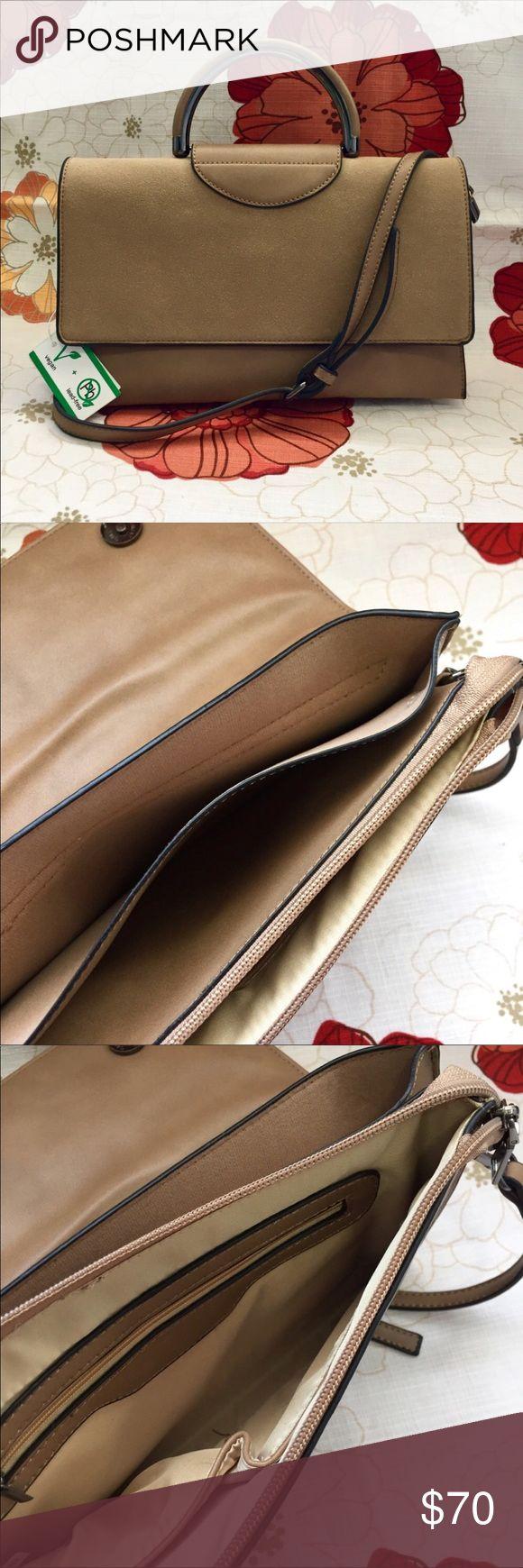 "Mini brief case handbag with strap Mini handbag with shoulder strap   ~ Compartment 1: No closure, No pockets ~ Compartment 2: Zip closure, one zip and two slip pockets  ~ Maximum shoulder strap length: 19"" snap closure ~ 11""W x 7""H x 2""D Nordstrom Bags"
