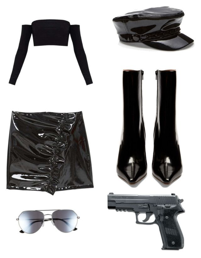 """Police outfit"" by eniolasomi on Polyvore featuring MANGO, Vetements, ED Ellen DeGeneres, StreetStyle and polyvorefashion"