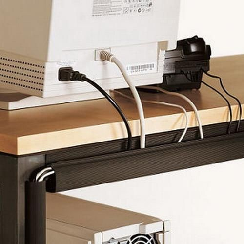cable management space saving ideas to get organized in office