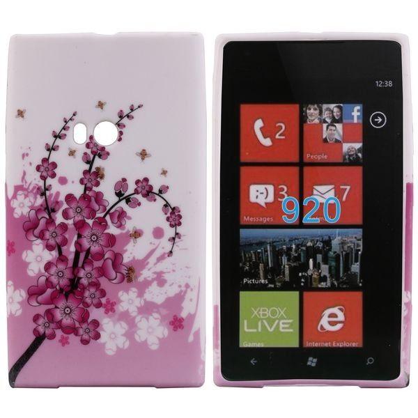Symphony (Pinkki Kukka) Nokia Lumia 920 Silikonisuojus