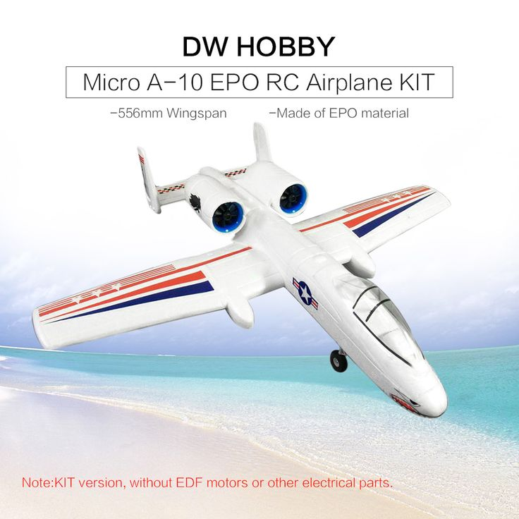 DW HOBBY Micro A-10 EPO 556mm Wingspan Airplane RC Aircraft KIT Version for Sale Online Array | Tomtop