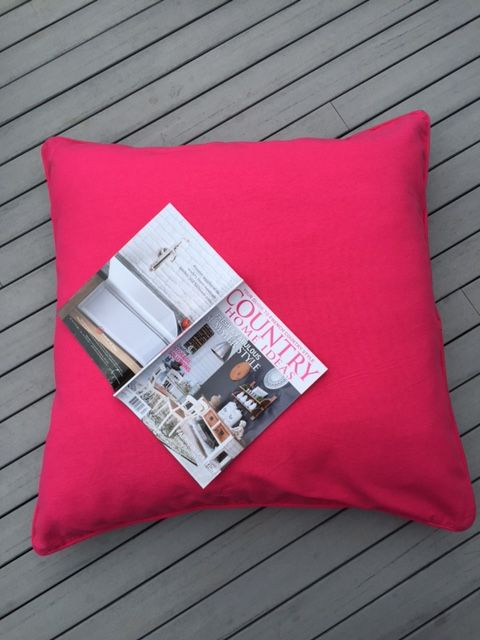 90 x 90cm floor cushions pink, vibrant bright and tough floor cushions. Brilliant for lounging on, for the kids or pets #helloblueflamingo #floorcushion #petbeds #flamingo