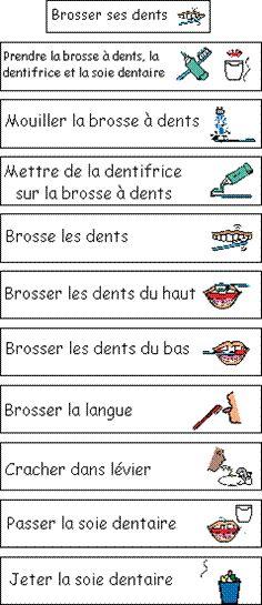 brushing your teeth French vocabulary for personal care routines / se brosser les dents - la vocabulaire de la toilette